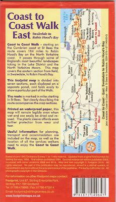 Footprint Map - Coast to Coast Walk Part 2 - East Back