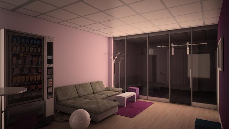Salle d'attente pour une salle de danse
