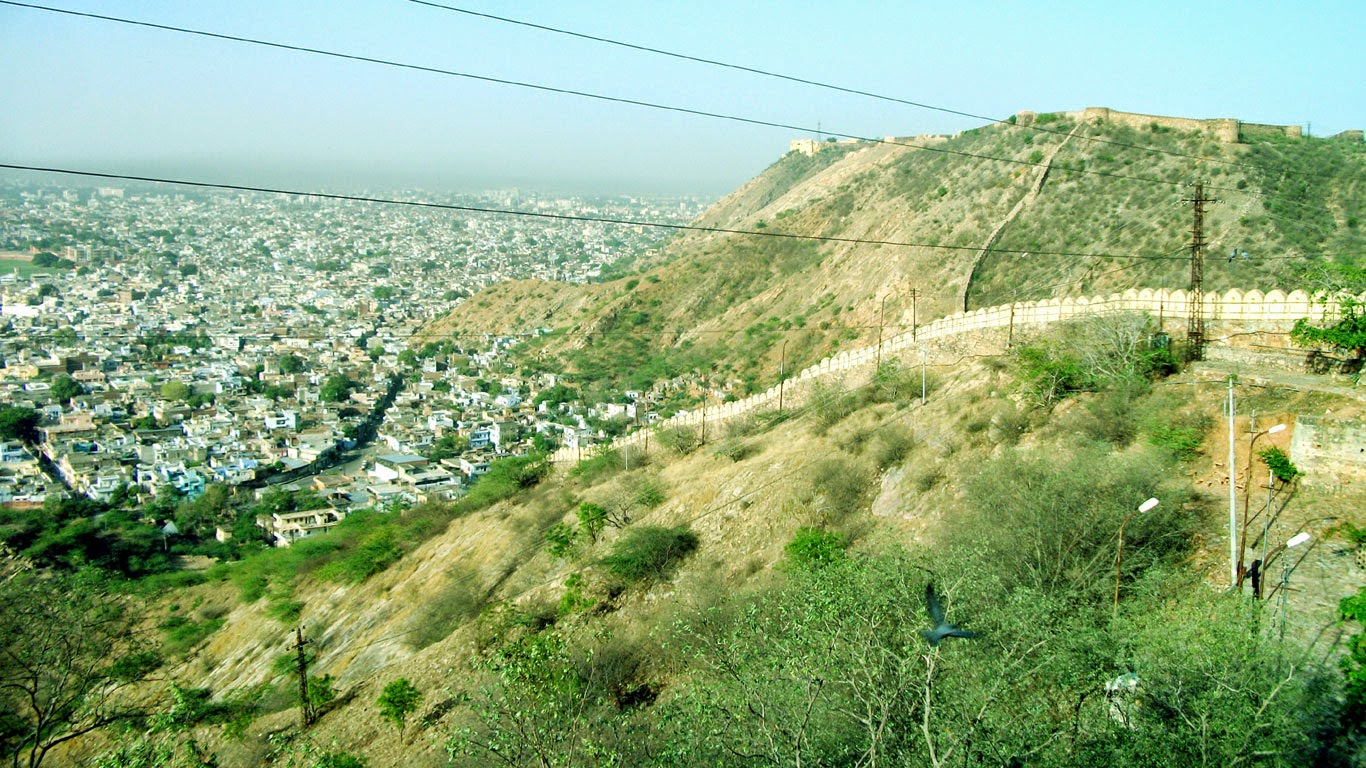 Nahargarh hill view from gadganesh