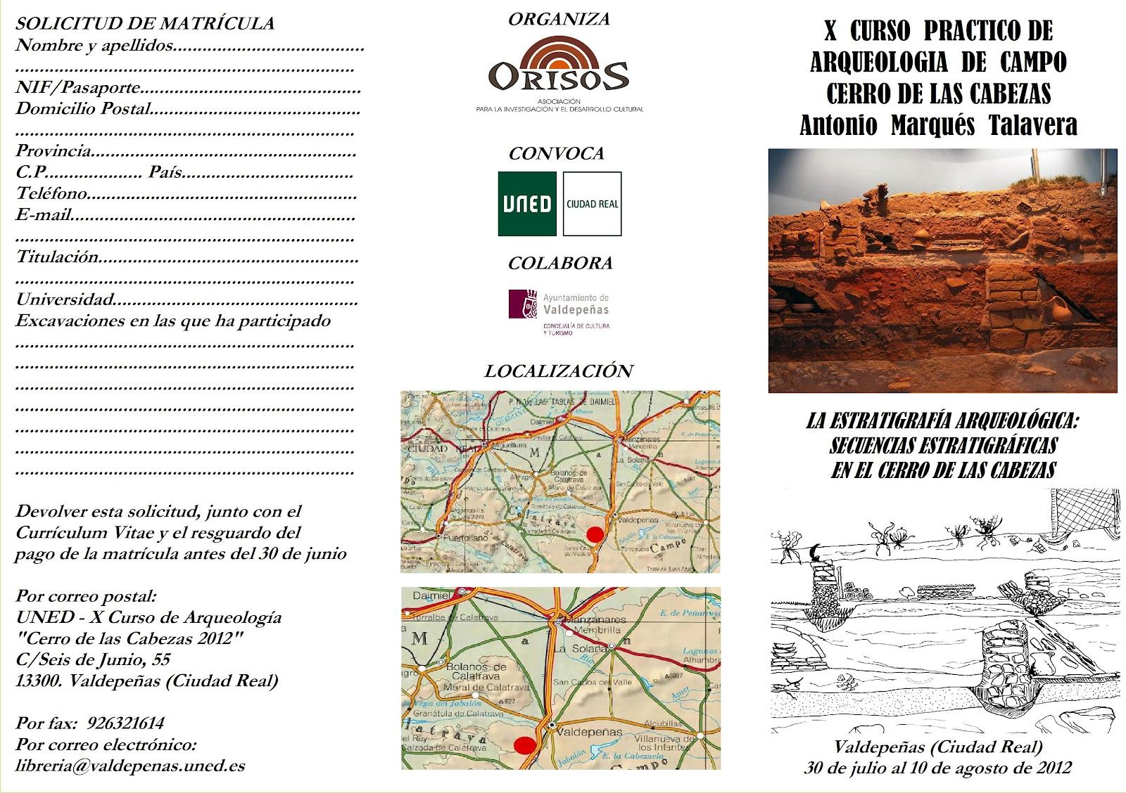 Delegaci n de alumnos uned ciudad real curso de arqueolog a - Cursos de cocina en ciudad real ...