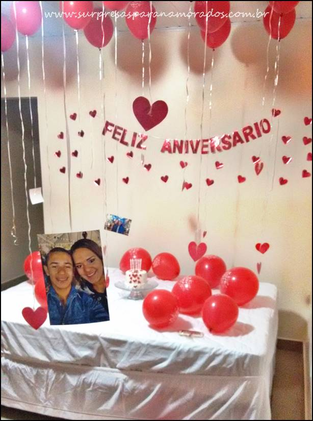 Surpresa Romântica de Aniversário  Surpresas para Namorados