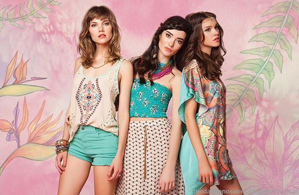 Shorts, kimonos, blusas y tops de la nueva colección de Rimmel primavera verano 2015.