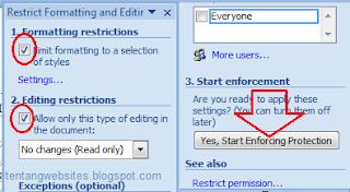 cara agar file dokumen tidak bisa di edit