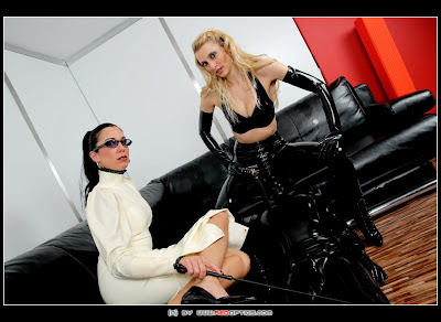 Blonde and Brunette, Stella or Lara, both in hot sexy latex