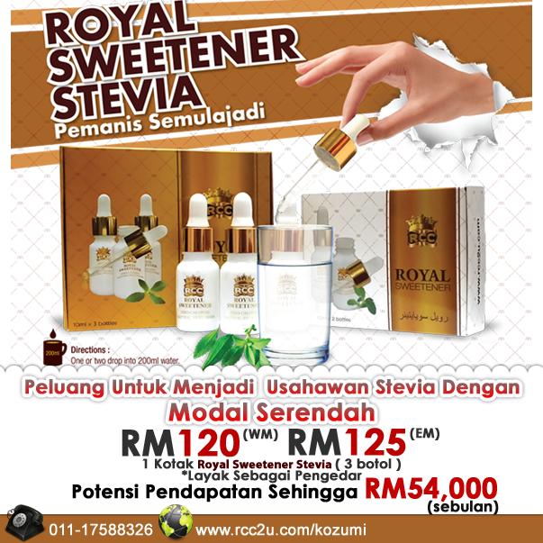Royal Sweetener Stevia, Pemanis Semulajadi