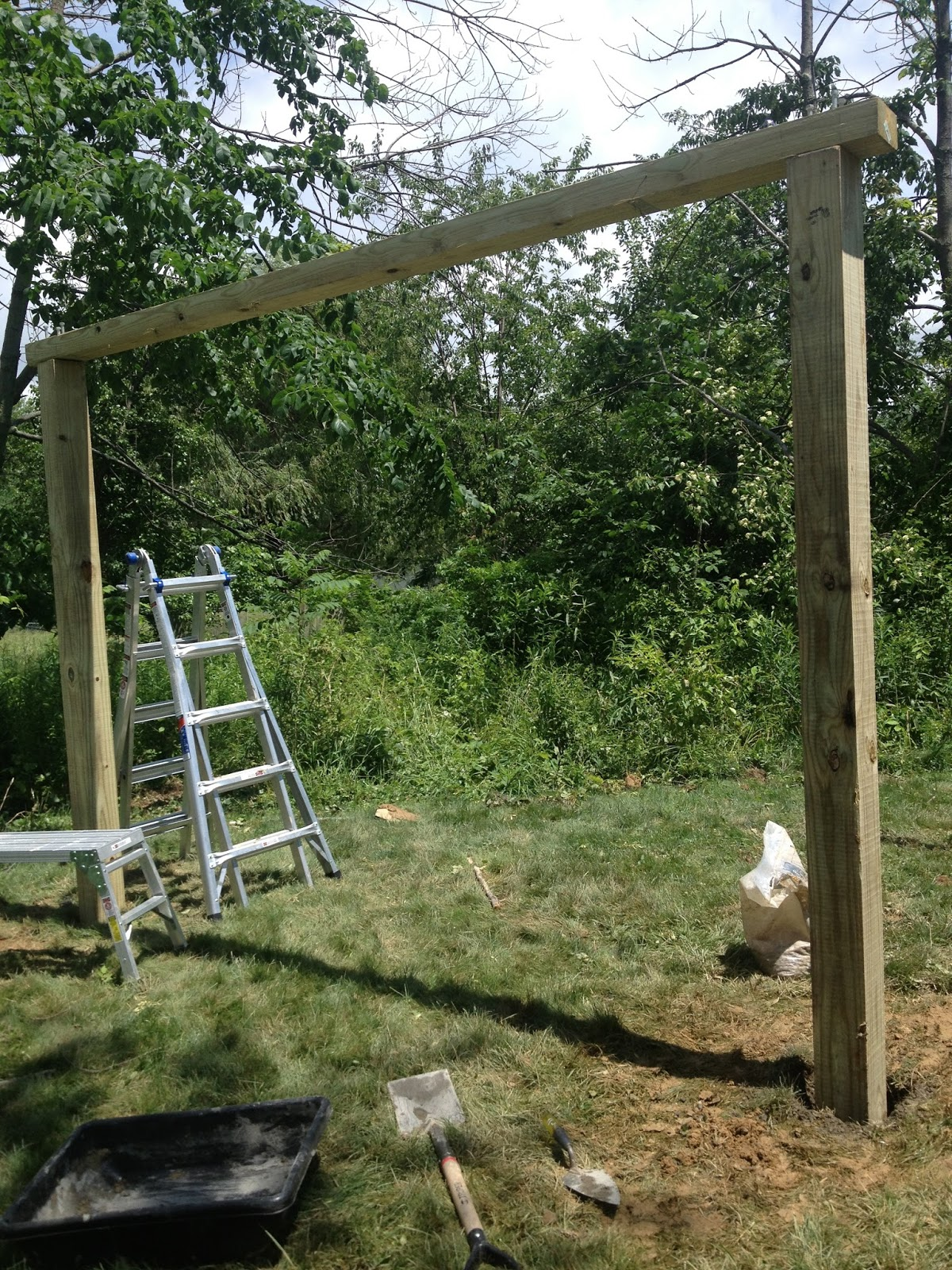 The two large posts on the left side of this picture are 6x6's. They ...
