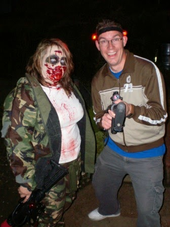 A Zombie Apocalypse victim and a future victim in Hastings