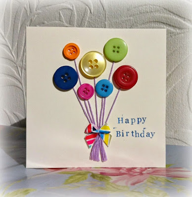 handmade button gift card