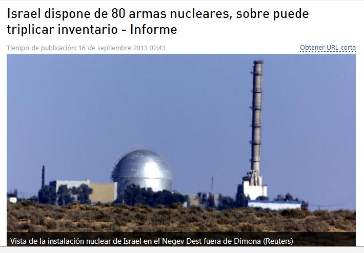 EEUU rechaza tratado de desarme nuclear por apoyar a Israel