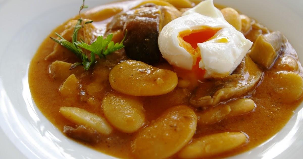 la cocina del alma judiones con boletus y huevo escalfado