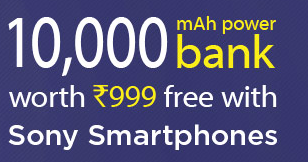 Buy Sony smartphone and get 10000 mAh Power bank free at Snapdeal : BuyToEarn