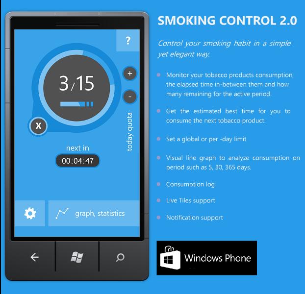 smoking control windows phone