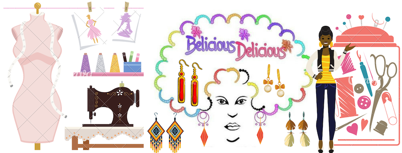 BELICIOUS-DELICIOUS FASHION ACCESSOIRES FAIT MAIN HAND MADE