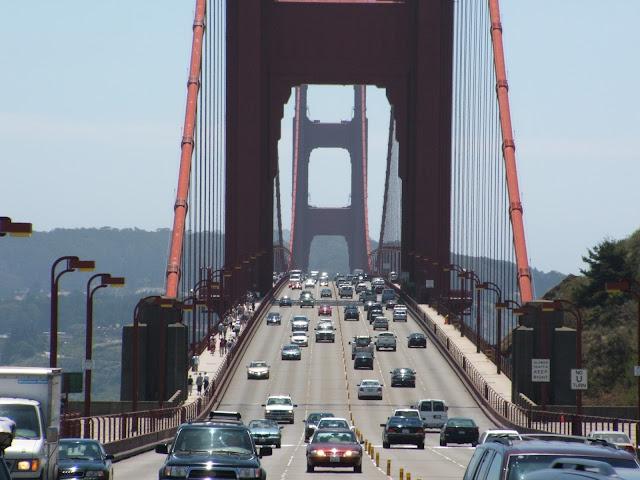Atravessando a ponte Golden Gate