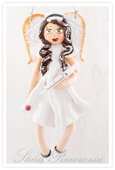 aniołek z masy solnej, aniołki z masy solnje, anioł anioły z masy solnej, masa solna, pielęgniarka z masy solnej, salt dough angels