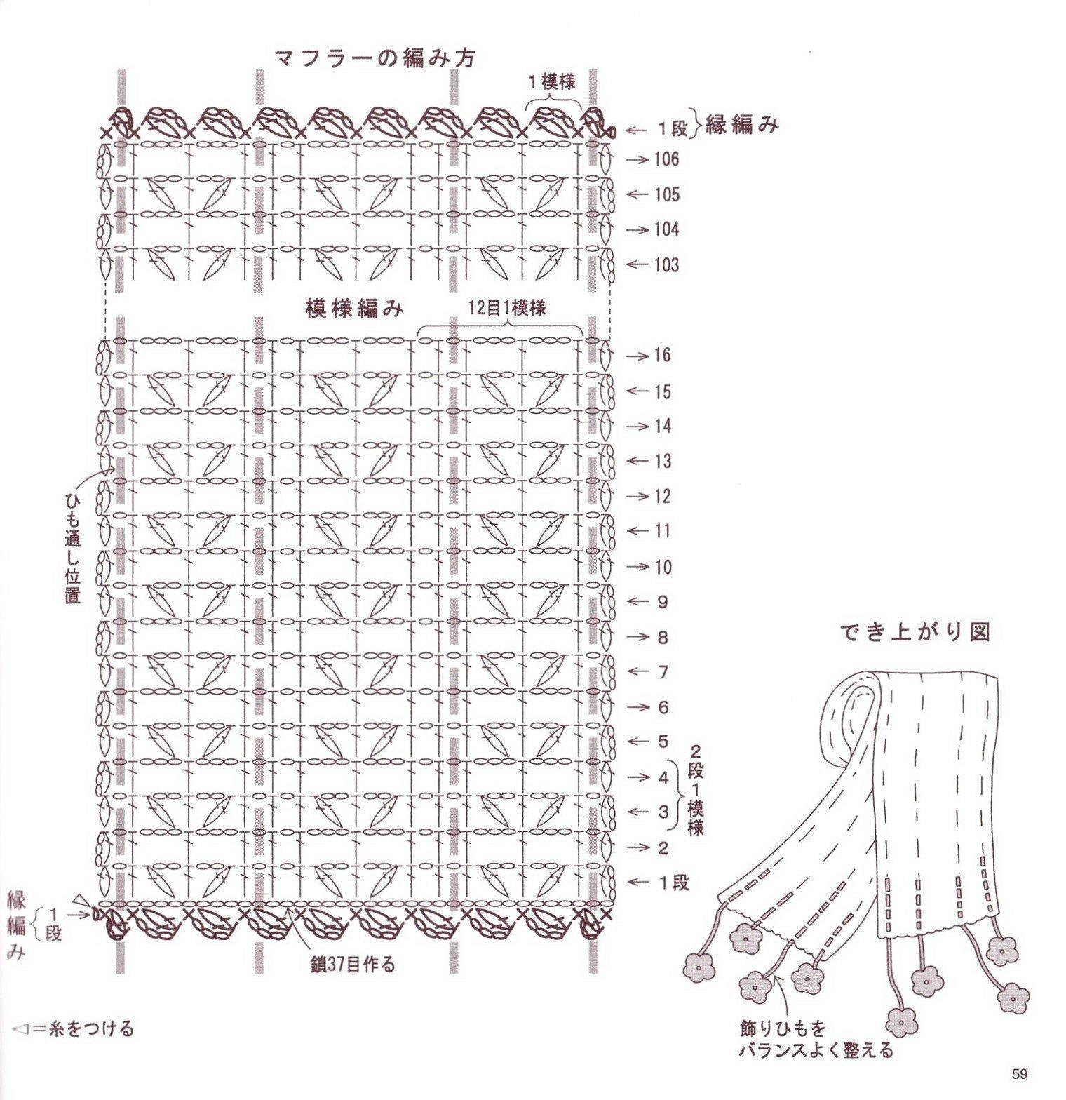 Bufandas de crochet con patrones - Imagui