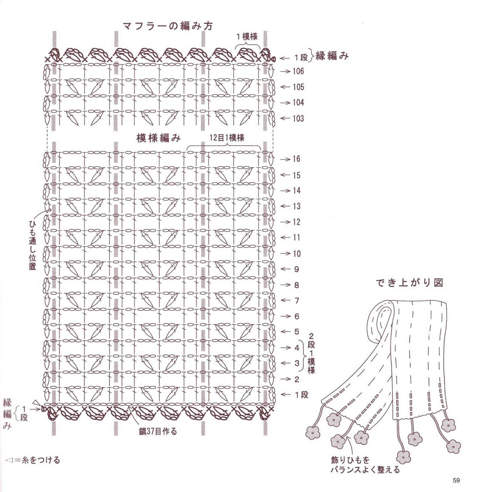 Patrones de bufandas a crochet - Imagui