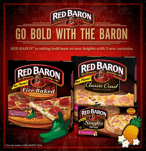 Red Baron bold pizzas
