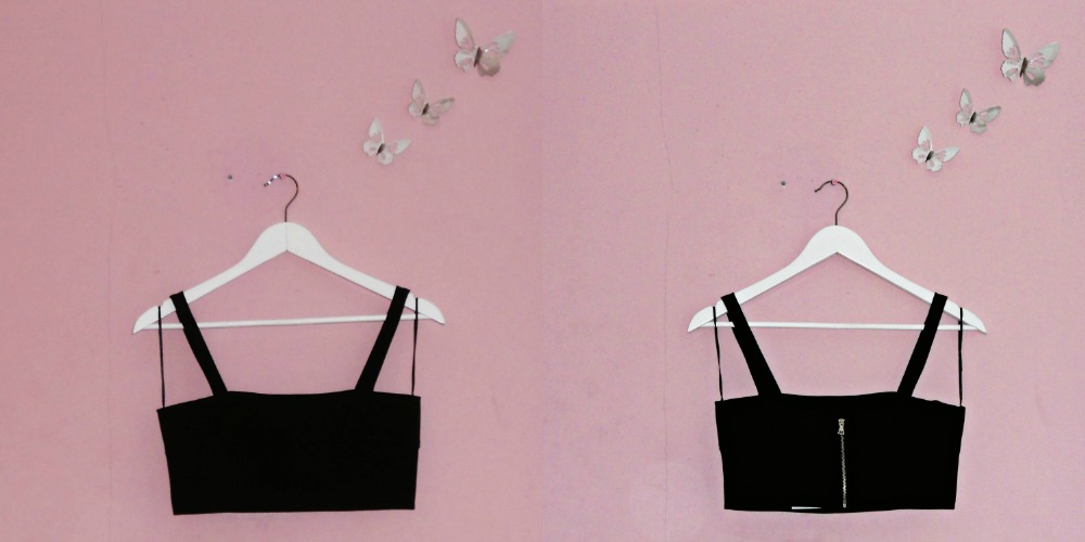 Summer Fashion Haul Black Bralet Top H&M