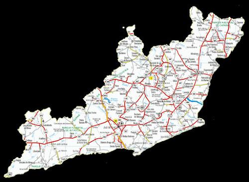 Mapa da região da Mata - Minas Gerais