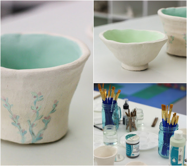 Painting pinch pots