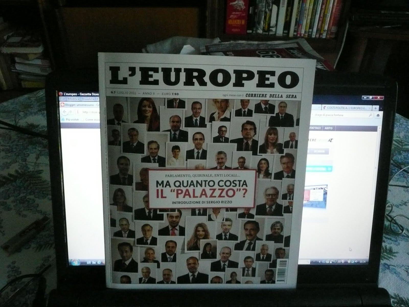 Unoenessuno ma quanto ci costa il palazzo for Numero parlamentari italiani
