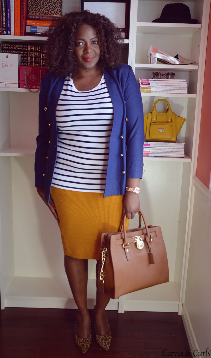 plus size fashion for women, what to wear to work. MUSTARD SKIRT 3 WAYS