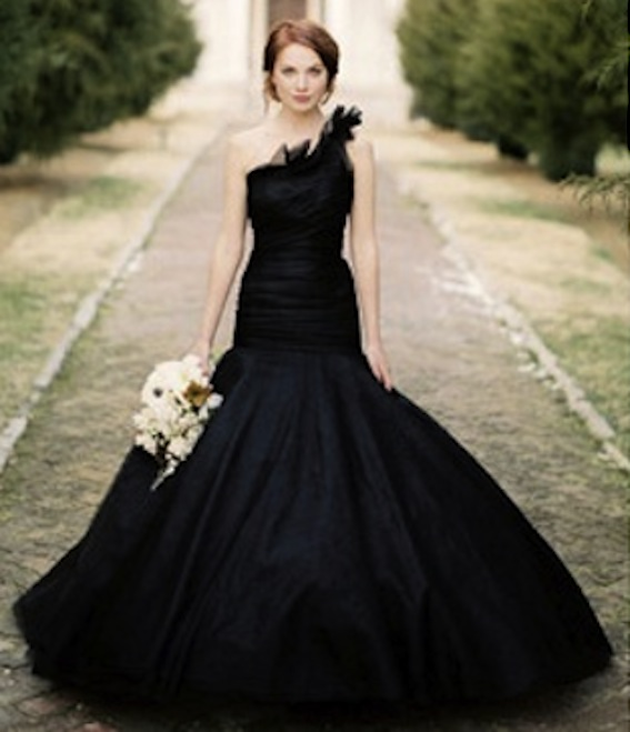 Fresh by wedding dresses in colour for Images of black wedding dresses
