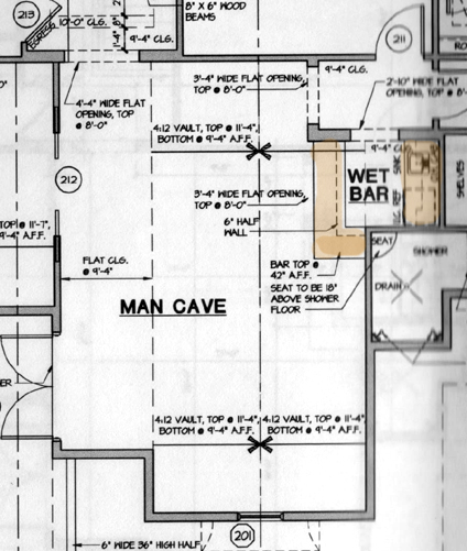 Our dream home in naples man 39 s cave his office for Man cave plans