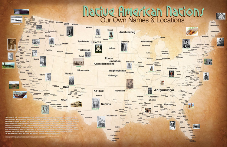 Map Of The Tribal Nations Native History Magazine - Map of us with native american tribes north america