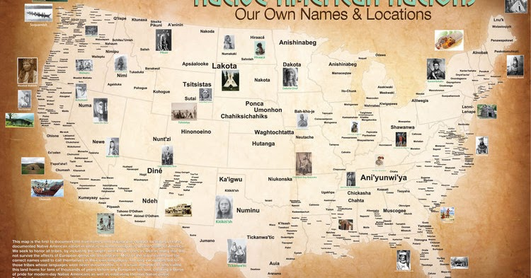 Map of the Tribal Nations Native History Magazine