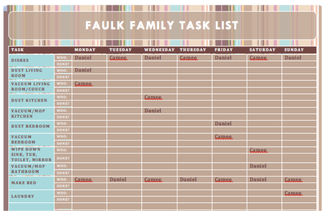 Task Schedule Template how to write romantic letters – Task Schedule Template