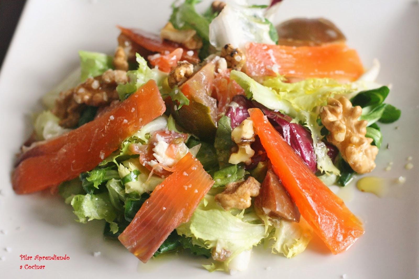 aprendiendo a cocinar ensalada con salmon ahumado norge