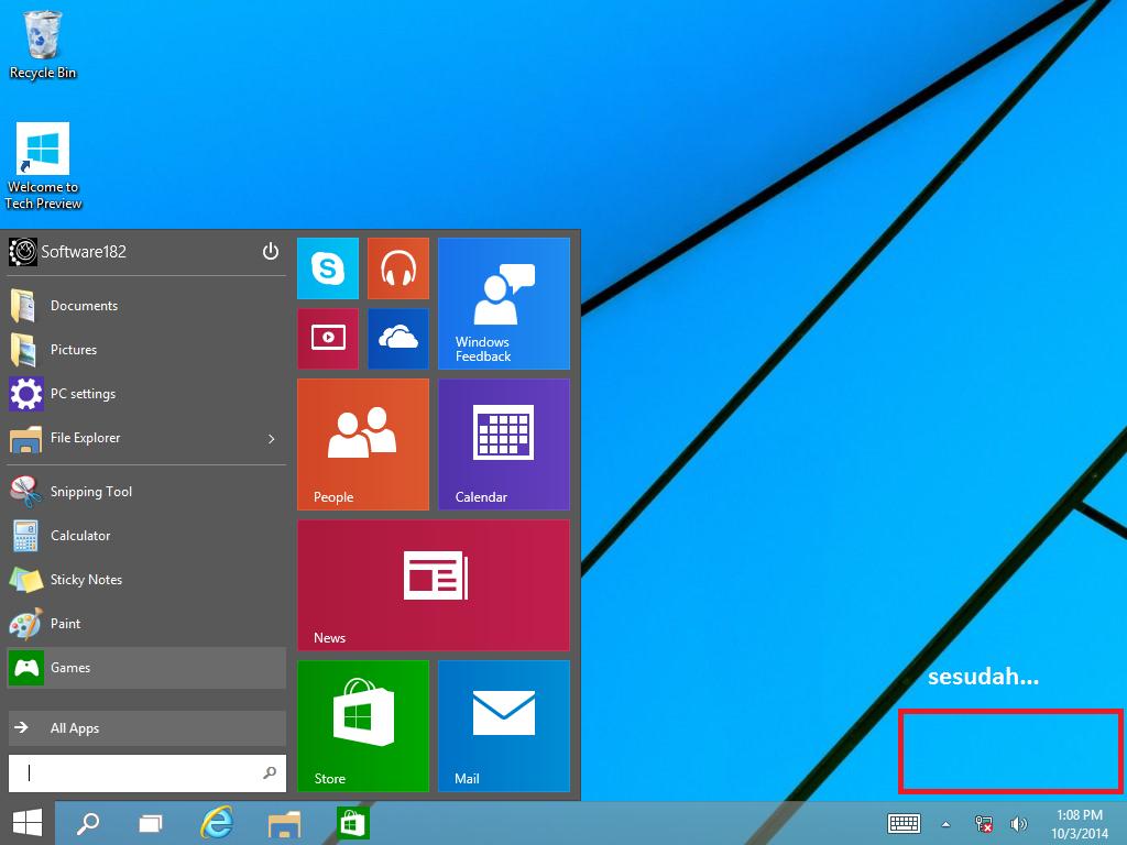Cara Mudah Menghilangkan Watermark di Windows 10 Technical Preview ...