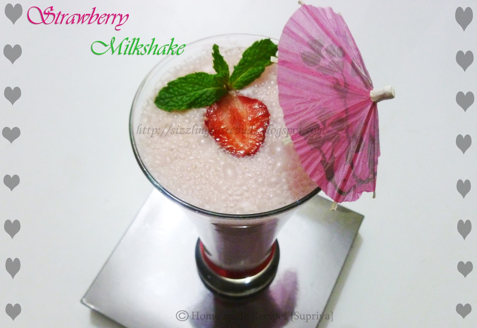 how to make strawberry milkshake at home