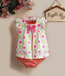 Carter's Green Flowers Dress Romper RM20