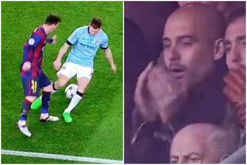 Le petit pont de Messi rend Guardiola fou (vidéo)