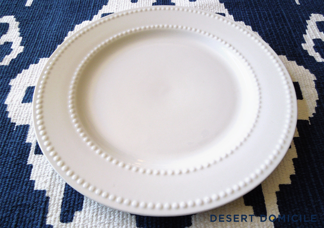 Well  checking them out  led to wanting them so I grabbed 10 of the plates Wednesday night (no bowls) headed to the checkout and smiled all the way back ... & Dollar Store Dinnerware | Desert Domicile