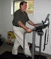 Barry working at the treadmill