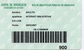 Obtención de la tarjeta de usuario de la red de  bibliotecas de Andalucía