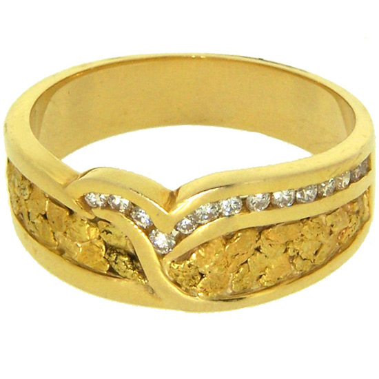 The element gold is the most obvious choice for the wedding ring