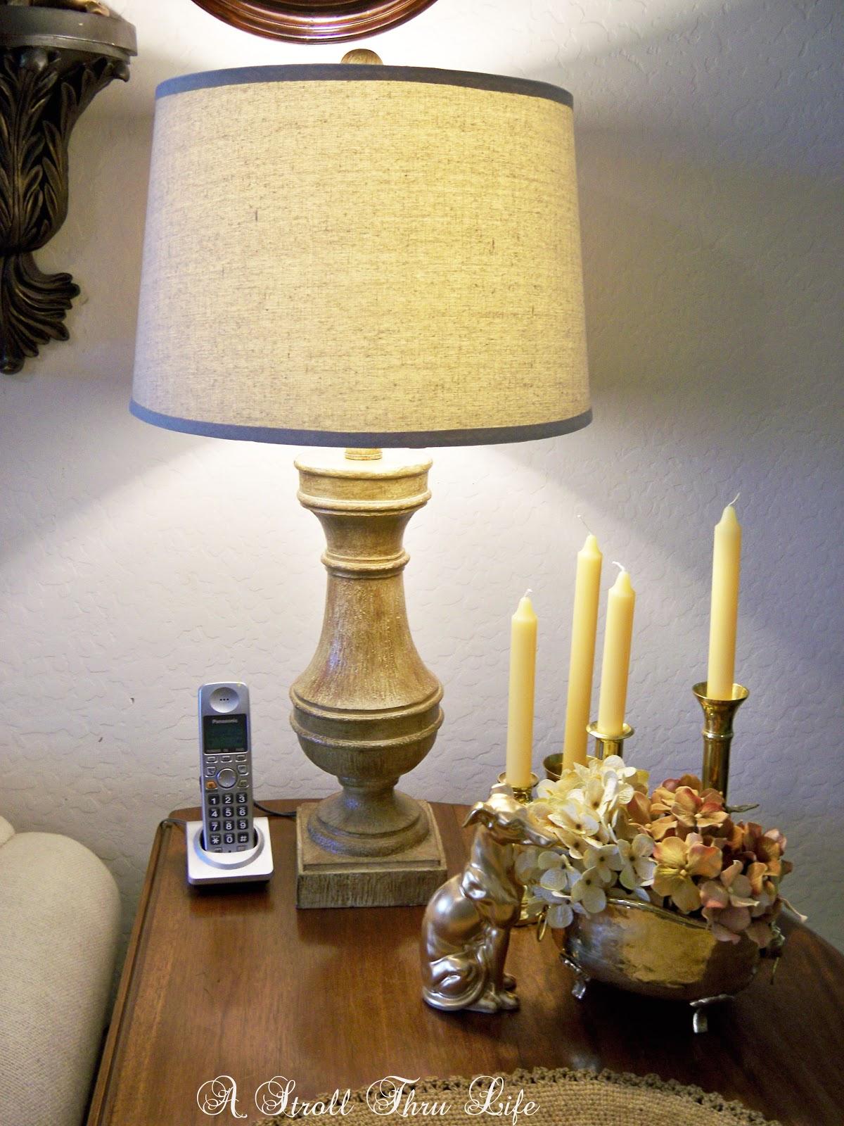 a new lamp & floral copy cat