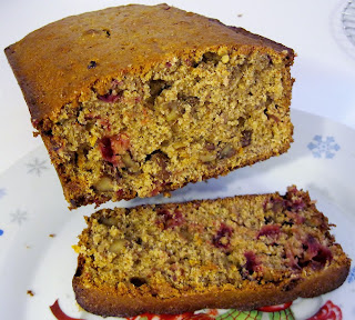 Healthier cranberry orange nut bread
