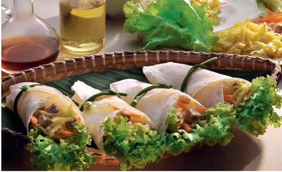 Fresh Pork Salad Rolls Recipe