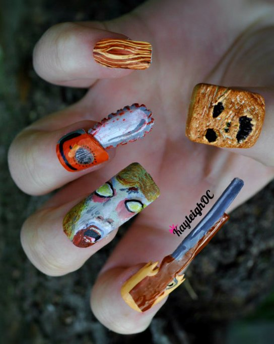 Evil Dead Nail Art