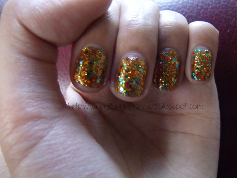 writing down my emotions: Review: Dearlee Gold Color Glitter Nail ...