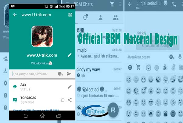 BBM Android Material Design Beta