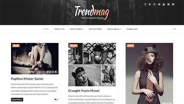 Trendmag - Clean & Responsive Blogger Templates