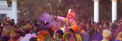 Holi 2012 at Radha Madhav Dham, ashram of Jagadguru Kripaluji Maharaj