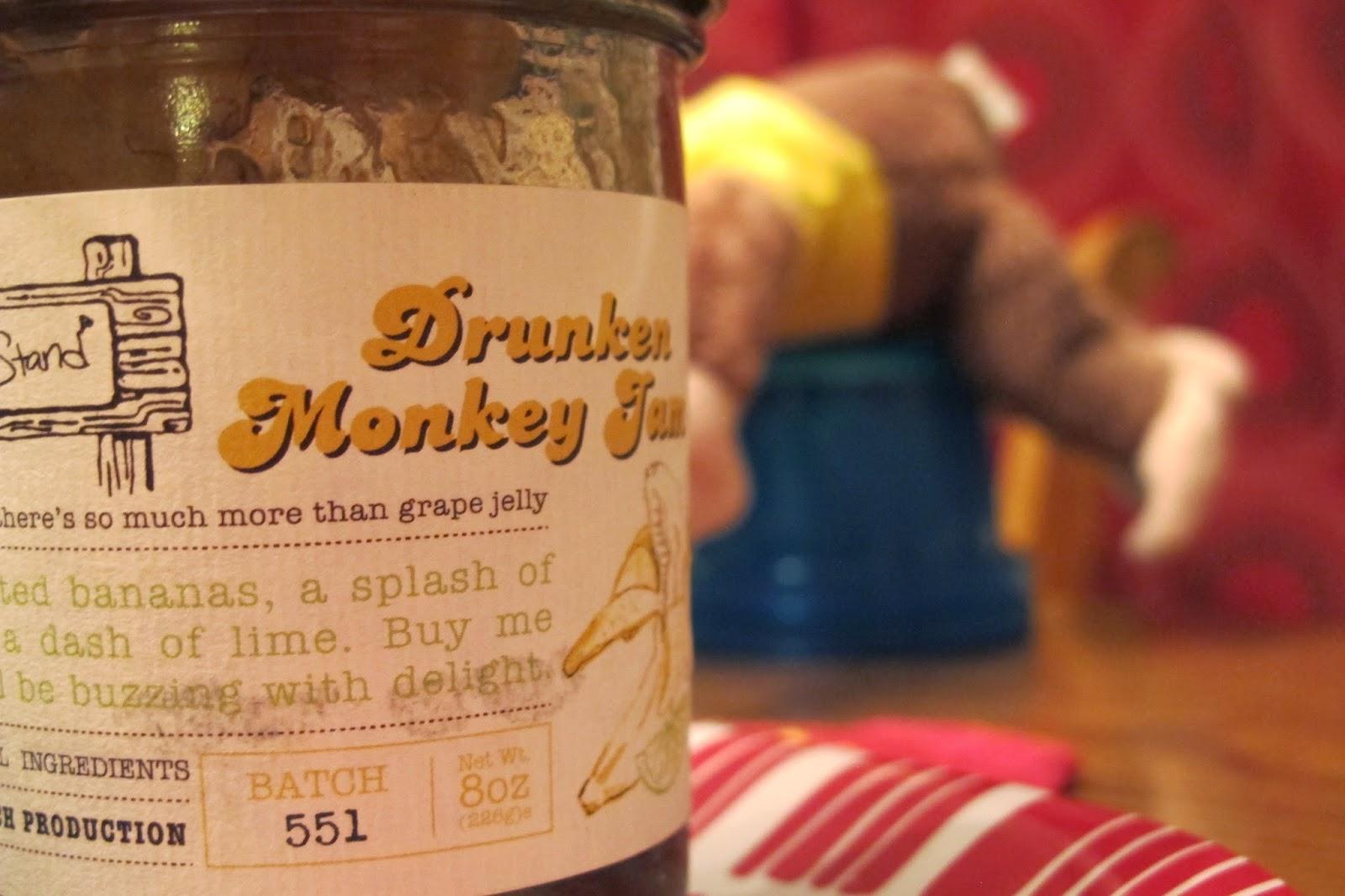 Drunken Monkey Banana Bread with Drunken Monkey Glaze.